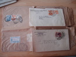 Mexique Mexico Lot 3 Lettres Annees 30  Dont 1 Lettre Recommandee Registered - Mexico