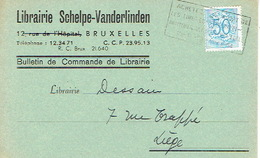 CP Publicitaire BRUXELLES 1954 - Librairie SCHELPE - VANDERLINDEN - Belgique