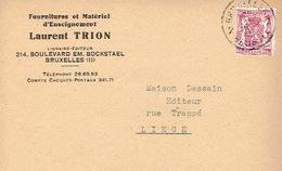 CP Publicitaire BRUXELLES 1947 - Laurent TRION - Fournitures Et Matériel D'Enseignement - Belgique