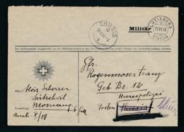 Schweiz-Militär-Feldpost Beleg ..... ( Oo8525  ) -siehe Scan - Svizzera