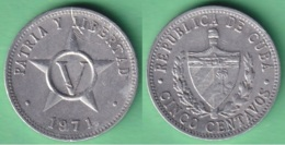 1971-MN-1 CUBA 1971 5c ALUMINIUM STAR ESTRELLA RADIANTE. - Cuba