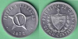 1972-MN-1 CUBA 1972 5c ALUMINIUM STAR ESTRELLA RADIANTE XF. - Cuba