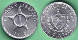 1972-MN-2 CUBA 1972 1c ALUMINIUM STAR ESTRELLA RADIANTE XF. - Cuba