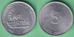 1988-MN-126 CUBA 1988 5c INTUR ALUMINIO. - Cuba