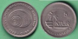 1989-MN-155 CUBA 1989 5c INTUR CARACOL SNAIL CUPRO NICKEL. - Cuba