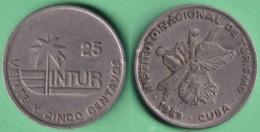 1989-MN-156 CUBA 1989 25c INTUR ORCHILD ORQUIDEAS CUPRO NICKEL. - Cuba