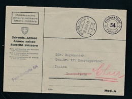 Schweiz-Militär-Feldpost Beleg ..... ( Oo8574  ) -siehe Scan - Svizzera