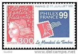 France Marianne Du 14 Juillet N° 3127 ** PHILEX FRANCE 99 Avec Le Logo De L'exposition - 1997-04 Marianna Del 14 Luglio