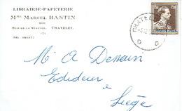 CP Publicitaire CHATELET 1953 - Mme Marcel BASTIN - Librairie - Papeterie - Châtelet