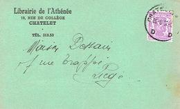 CP Publicitaire CHATELET 1952 - Librairie De L'Athénée - Châtelet