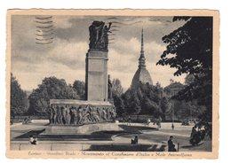 TORINO GIARDINO REALE  MONUMENTO AL CARABINIERE D'ITALIA E MOLE ANTONELLIANA      1942 - Parcs & Jardins
