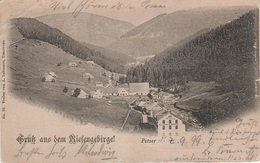AK Gruß Riesengebirge Petzer Pec Snezkou Gasthof Baude Kretscham Berghotel Riesengrund A Großaupa Groß Aupa Velka Upa - Sudeten
