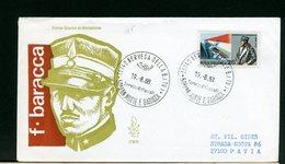 ITALIA -  FDC  VENETIA 1968  -   MORTE FRANCESCO BARACCA  -   Con Timbro Di Arrivo - 6. 1946-.. Repubblica
