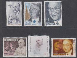 Monaco 1988 Jean Monnet 6 Countires 6v ** Mnh (43020) - European Ideas