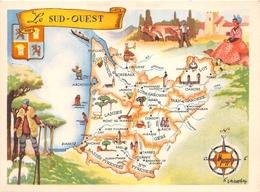 """Carte Publicitaire - Le Cirage """" LION NOIR """" - Les Provinces Françaises """" Le Sud-Ouest """" - Illustrateur """"J.A Dupuich"""" - Publicité"""
