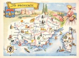 """Carte Publicitaire - Le Cirage """" LION NOIR """" - Les Provinces Françaises """" La Provence """" - Illustrateur """"J.A Dupuich"""" - Publicité"""