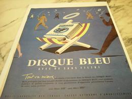 ANCIENNE PUBLICITE CIGARETTE GAULOISE DISQUE BLEU   1958 - Publicités