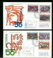ITALIA -  FDC  VENETIA 1968 -  ANNIVERSARIO VITTORIA  -  RACCOMANDATA Con Timbro Di Arrivo - 6. 1946-.. Repubblica