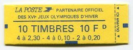 RC 12797 FRANCE CARNET N° 1502 BRIAT  JEUX OLYMPIQUES 2f30 + 0f20 + 0f10 COMPOSITION VARIABLE MNH NEUF ** - Carnets