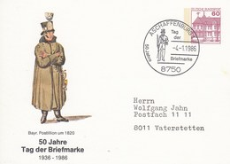 PP 106/233  50 Jahre Tag Der Briefmarke 1936-1986 - Bayr.Posttillion Um 1820, Aschaffenburg 1 - BRD