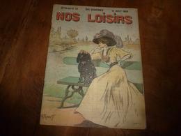 1908 NOS LOISIRS :Dessin De Fraipont;Trésors Enfouis Dans La Mer;Miss Ethel Rockefeller;Femme-chef Des Brigands;etc - Livres, BD, Revues