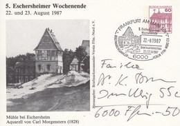 PP 106/245  5.Eschheimer Wochenende 1987 -Mühle Bei Erschersheim., Frankfurt Am Main - Cartoline Private - Usati