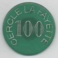 Ancien Jeton De Casino : Cercle La Fayette Paris 100 Francs : Monogramme CL - Casino