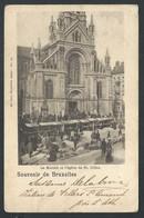 +++ CPA - BRUSSEL - Souvenir De BRUXELLES - Le Marché Et L'Eglise De ST GILLES - SINT GILLIS - Nels Série 1 N° 64    // - St-Gilles - St-Gillis