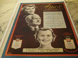 ANCIENNE PUBLICITE LUNETTE DE PARIS LUNETTE D AUJOURD HUI  AMOR 1952 - Habits & Linge D'époque