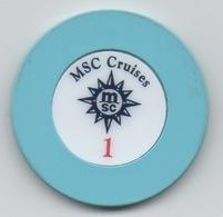 Jeton De Casino à Bord Croisière : MSC Cruises 1 (dollar?) - Casino