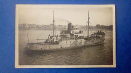 """Carte Photo De Nantes - Bateau Caboteur """"Le Violent"""" à Nantes En 1934 - Port D'attache Dunkerque - Nantes"""