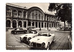 TORINO STAZIONE PORTA NUOVA  MACCHINE D'EPOCA 1958 - Stazione Porta Nuova