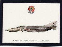 F-4E Phantom II  -  457th Tactical Fighter Squadron AFRes USAF   -  CPM - 1946-....: Ere Moderne