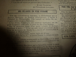 1908 NOS LOISIRS :Reliure En Peau Humaine;Mano Nera;Manger Des Insectes;Être Modiste;Maigrir;Marie De Roumanie;etc - Livres, BD, Revues