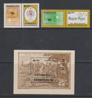 Hungary 1992 Eurofilex 2v + Label + M/s  ** Mnh (43026) - Blokken & Velletjes