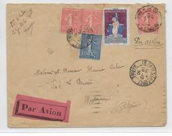 SEMEUSE - 1930 - ENVELOPPE Par AVION De LE GAULT LA FORET (MARNE) Avec VIGNETTE TUBERCULOSE => BRUXELLES (ALGERIE) - 1921-1960: Modern Tijdperk
