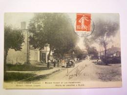 GP 2019 - 1464  LUGON  (Gironde)   :  Maison HIVERT Et Les Promenades  -  Route De Libourne à Blaye  1908    XXX - Autres Communes
