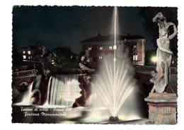 TORINO DI NOTTE PARCO DEL VALENTINO FONTANA MONUMENTALE  1957 - Parcs & Jardins