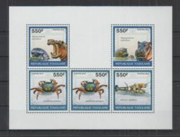 N243. Togo - MNH - Nature - Animals - Mammals - Marine Life - Crabs - 2010 - Timbres