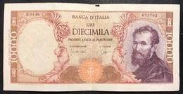 10000 LIRE MICHELANGELO 14 01 1964 N.C. Peccato Per La Mancanza Altrimenti Bb/spl LOTTO 2544 - [ 2] 1946-… : República