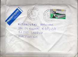 France Letter Via Macedonia 1997 - Stamp UNESCO - France