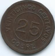 Guatemala - 1915 - 25 Centavos - Provisional - KM231 - Guatemala