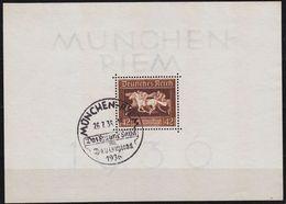 GERMANY REICH [1936] MiNr 0621 Block 4 ( O/used ) Pferde Sonder-O - Allemagne