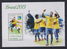 O910. Sao Tome And Principe - MNH - 2013 - Sports - Football - Brazil - Bl. - Timbres