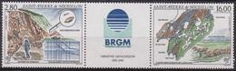 Mission Géologique - SAINT PIERRE ET MIQUELON - Carte, Loupe, Zircon - N° 618-619 ** - 1995 - St.Pierre & Miquelon