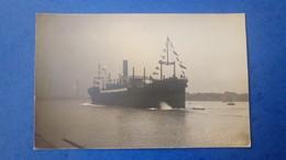 Carte Photo De Dunkerque Bateau De Marine Marchande, Cardo Années 1920 / Photographe P. Nydegger - Dunkerque