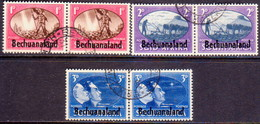 1945 BECHUANALAND Protectorate SG 129-31 Compl. Set Used In Horiz.pairs Victory - Bechuanaland (...-1966)