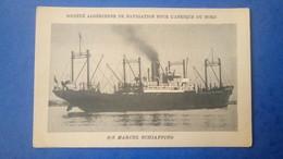 Marine Marchande, Société Algérienne De Navigation - Bateau Cargo S/s Marcel Schiaffino - Cargos