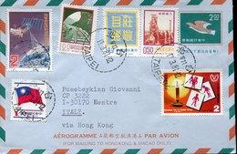45370  CHINA Taiwan, Aerogramme Circuled 1981 From Taipei To Italy - 1945-... República De China