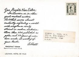Abbott Dear Doctor CardBelgium To US 1956 Belgium Stamp Not Franked - Postcards